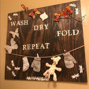 Laundry room hanging